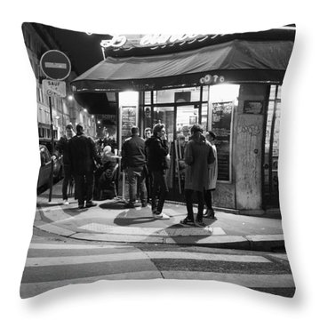 Saturday Evening In Paris Throw Pillow