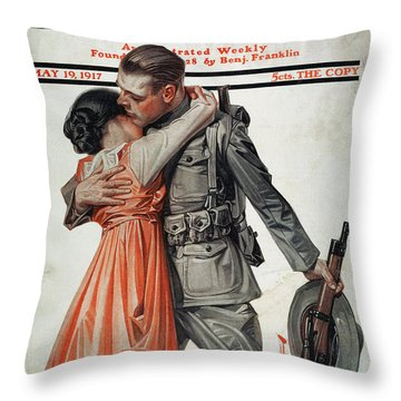 Saturday Evening Post Throw Pillow by Granger