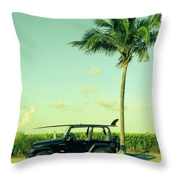 Throw Pillow featuring the photograph Saturday by Laura Fasulo