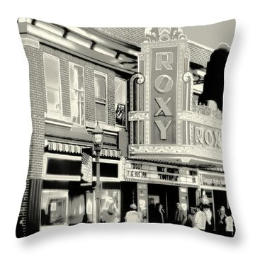 Saturday Night At The Roxy Throw Pillow