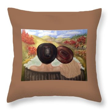 Saturday Night Bath Throw Pillow