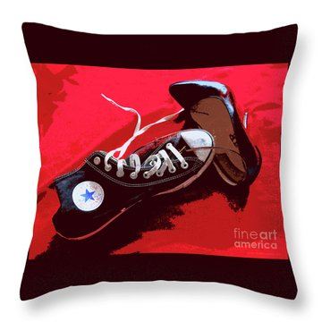 Living In Converse Saturday Night. Throw Pillow