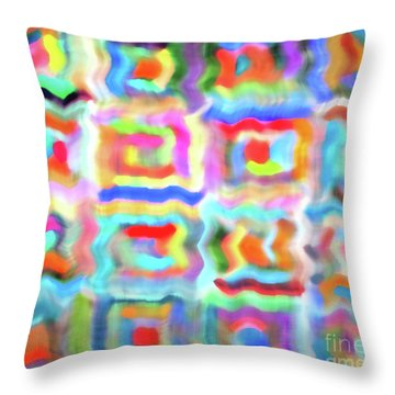 Saturday Quilting Muse Throw Pillow by Gwyn Newcombe