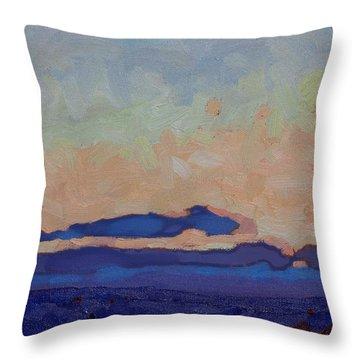 Saturday Stratocumulus Sunset Throw Pillow