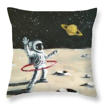 Saturn Ring Throw Pillow
