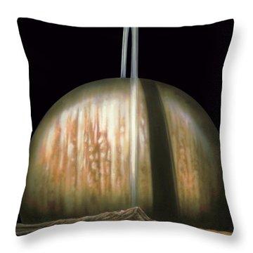 Saturn Rising Throw Pillow