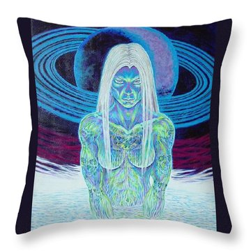 Saturn Sister Throw Pillow