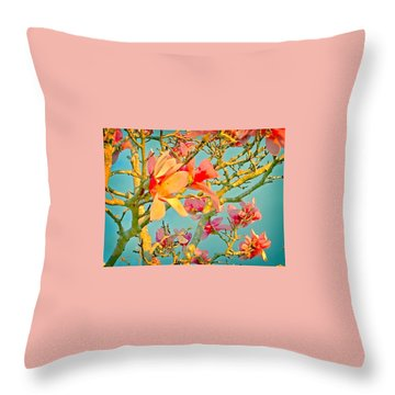 Saucer Magnolia Throw Pillow