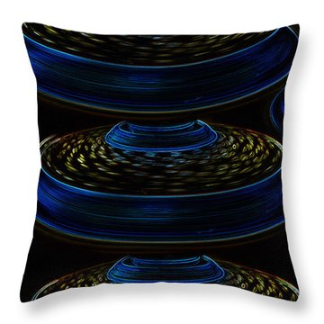 Saucers Throw Pillow by David Lee Thompson