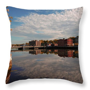 Throw Pillow featuring the photograph Saugatuck River - Westport by Michael Hope