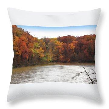 Sauk Lake Autumn Throw Pillow