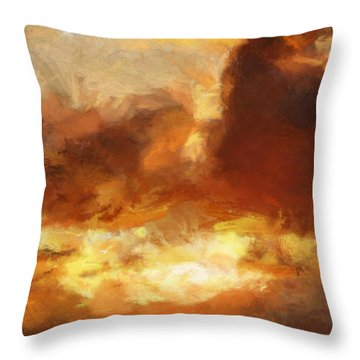Saulriets Throw Pillow by Greg Collins