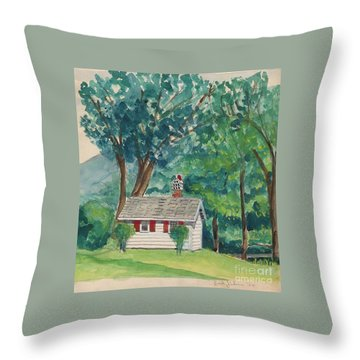 Sauna At Murray Hollow Throw Pillow by Fred Jinkins
