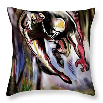 Savage Artist Looking For Brushes Throw Pillow