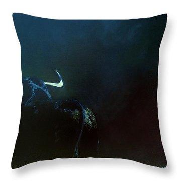 Savage Bull Throw Pillow