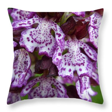 Savage Orchid 2 Throw Pillow by Jean Bernard Roussilhe