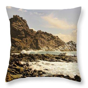 Savage Throw Pillow by Oscar Moreno
