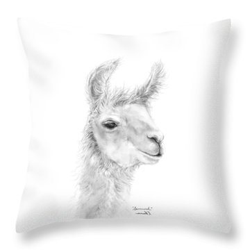 Throw Pillow featuring the drawing Savannah by K Llamas