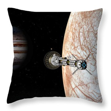 Throw Pillow featuring the digital art Savannah Leaving Europa by David Robinson
