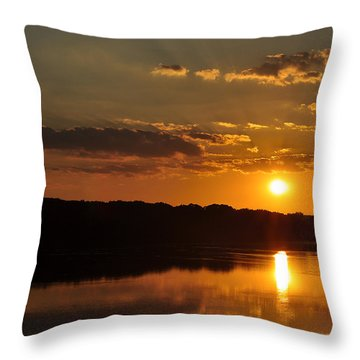 Savannah River Sunset Throw Pillow