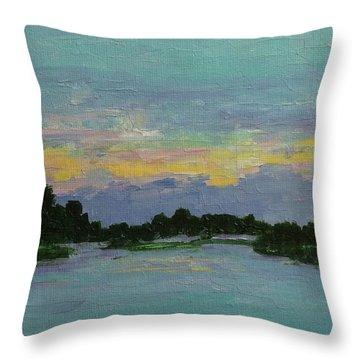 Savannah Sunrise Throw Pillow by Gail Kent