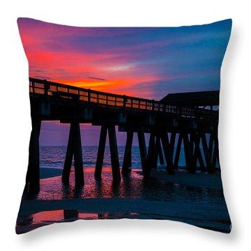 Savannah Sunrise Throw Pillow by John Roberts