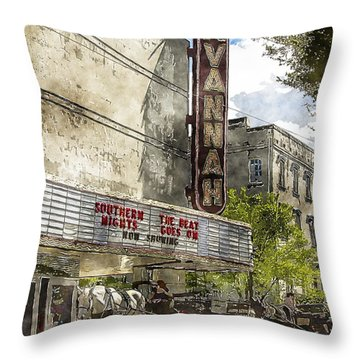 Savannah Theatre Throw Pillow