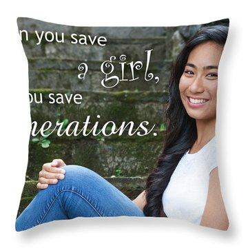 Save A Girl Throw Pillow