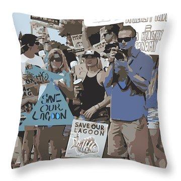 Save Our Lagoon Throw Pillow