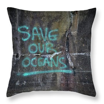 Save Our Oceans Throw Pillow