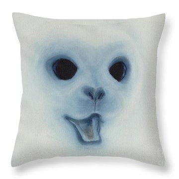 Throw Pillow featuring the painting Save The Baby Seals by Annemeet Hasidi- van der Leij