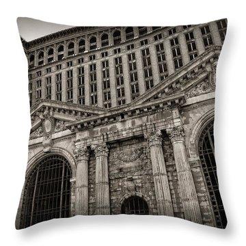 Save The Depot - Michigan Central Station Corktown - Detroit Michigan Throw Pillow