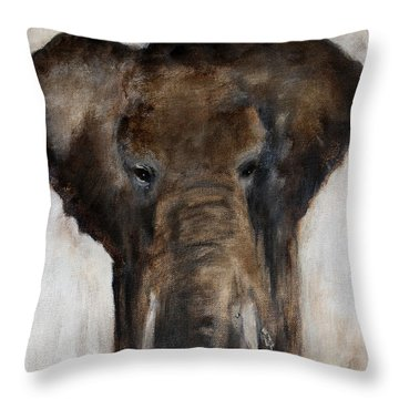 Save The Elephant Throw Pillow