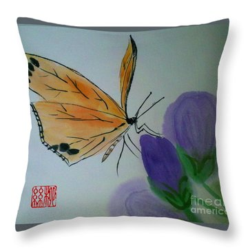 Save The Monarchs Throw Pillow