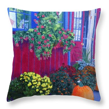 Savickis Market Throw Pillow
