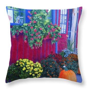 Savickis Market Throw Pillow by Lynne Reichhart
