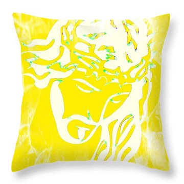 Throw Pillow featuring the mixed media My Father's Will by Jessica Eli