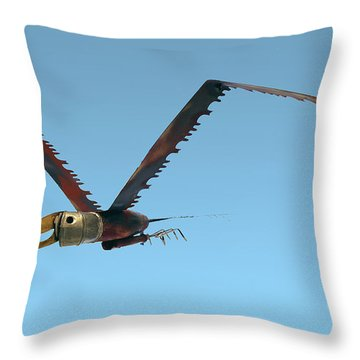 Saw Bird -raptor Throw Pillow
