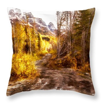 Sawmill Road Throw Pillow