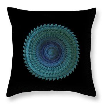 Throw Pillow featuring the digital art Sawblade by Lyle Hatch