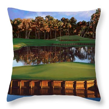 Sawgrass 17th Hole Hol Throw Pillow