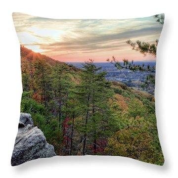 Sawnee Mountain And The Indian Seats Throw Pillow