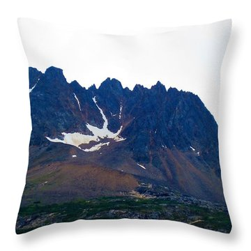 Sawtooth Alaska Throw Pillow