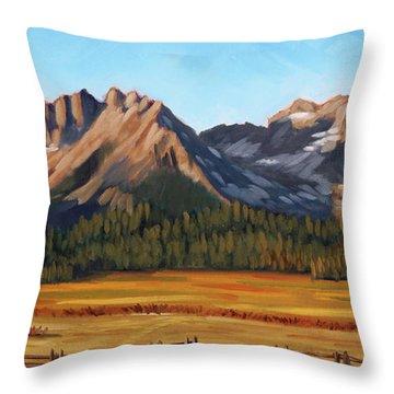 Sawtooth Mountains - Iron Creek Throw Pillow