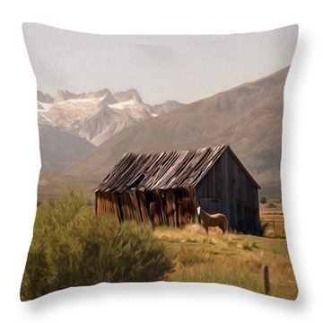 Sawtooth Range From Bridgeport Throw Pillow