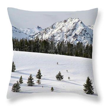 Sawtooth Wilderness Central Idaho Throw Pillow