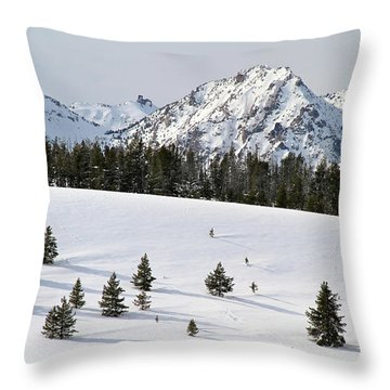 Sawtooth Wilderness Central Idaho Throw Pillow