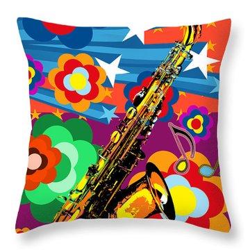 Sax Arrangement Throw Pillow