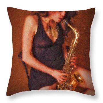 Sax Solo  ... Throw Pillow