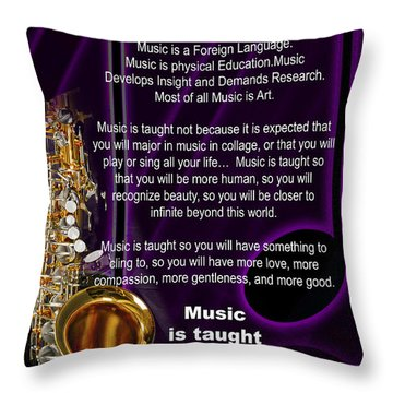 Saxophone Photographs Or Pictures For T-shirts Why Music 4819.02 Throw Pillow